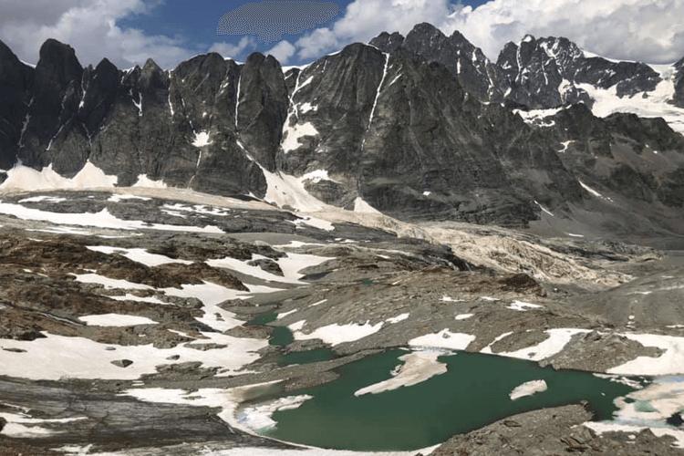 Ghiacciaio Scerscen e Gruppo Bernina